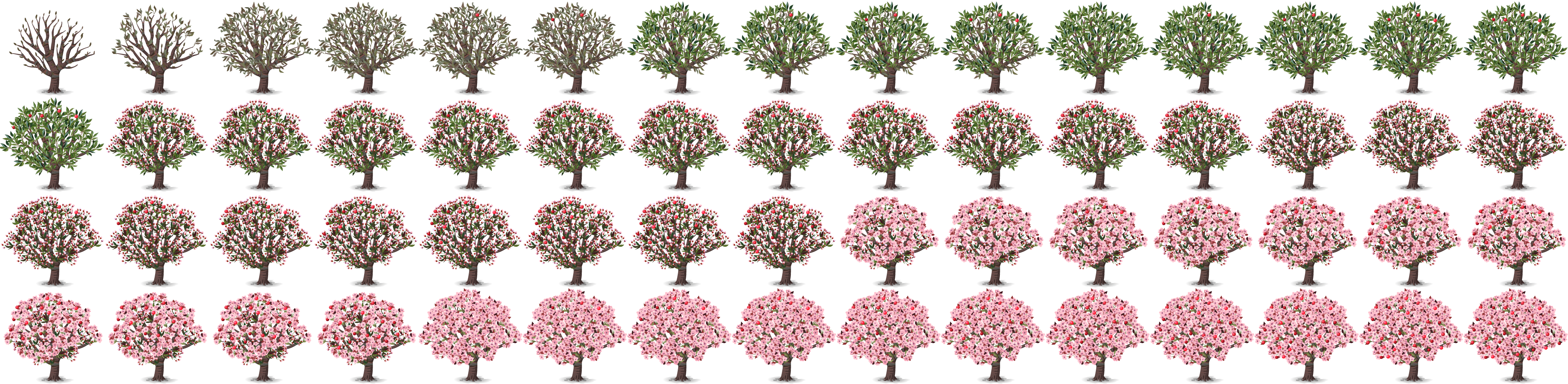 Fruit tree spritesheet
