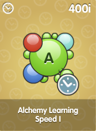 Alchemy Learning Speed I