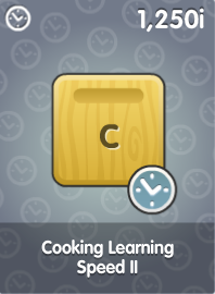 Cooking Learning Speed II